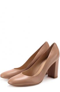 Кожаные туфли Linda на устойчивом каблуке Gianvito Rossi