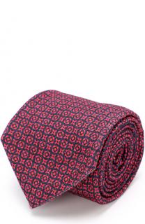 Кашемировый галстук с принтом Kiton