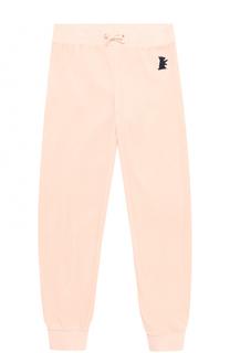 Спортивные брюки с эластичными манжетами и вышивкой Juicy Couture