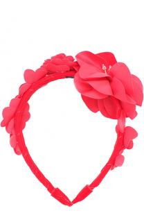 Текстильный ободок с цветочным декором David Charles