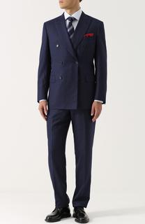 Шерстяной костюм с двубортным пиджаком Brioni