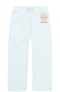 Спортивные брюки прямого кроя с принтом Juicy Couture