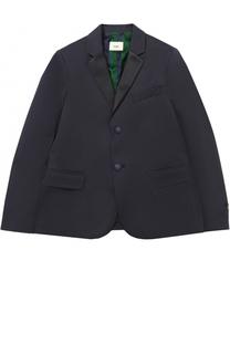 Однобортный пиджак из хлопка Fendi Roma