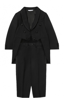 Шерстяной фрак с отделкой из шелка Dolce & Gabbana