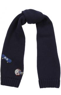Шерстяной шарф с нашивками Dolce & Gabbana