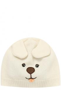 Кашемировая шапка с вышивкой и декором Dolce & Gabbana
