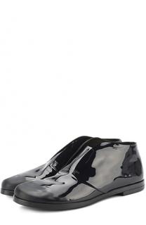 Лаковые ботинки без шнуровки Marsell