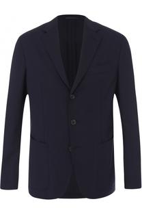 Шерстяной однобортный пиджак Caruso
