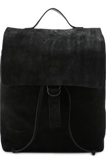 Замшевый рюкзак с откидным клапаном Marsell