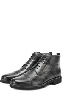 Кожаные ботинки с брогированием Aldo Brue