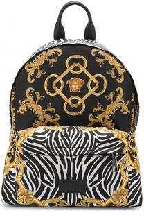 Текстильный рюкзак с принтом Versace