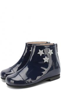 Ботинки из лаковой кожи с аппликациями в виде звезд Il Gufo