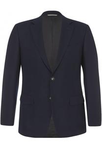 Однобортный пиджак из смеси шерсти и кашемира с шелком Canali