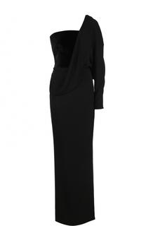 Приталенное платье-макси асимметричного кроя Tom Ford