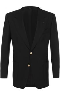 Однобортный шерстяной пиджак Tom Ford