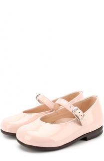 Туфли из лаковой кожи с ремешками Il Gufo