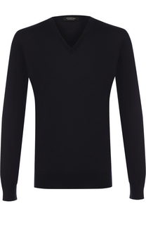 Однотонный пуловер из шерсти Ermenegildo Zegna