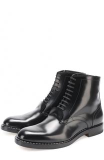 Кожаные ботинки на шнуровке Maison Margiela