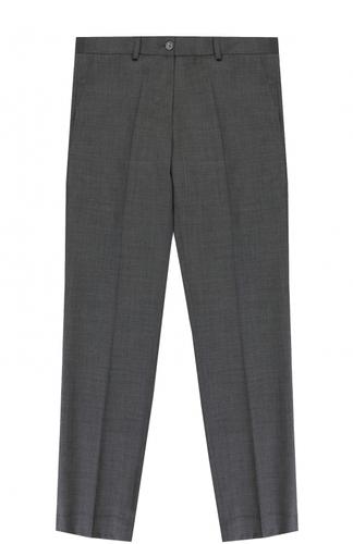 Шерстяные брюки прямого кроя Dal Lago