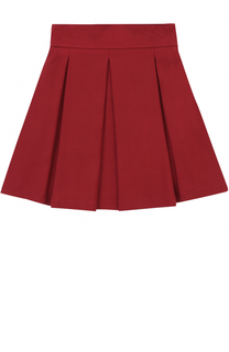 Мини-юбка с широким поясом и защипами Aletta