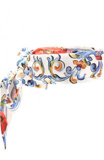 Шелковая повязка на голову с принтом Dolce & Gabbana