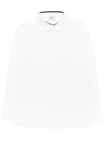 Однотонная рубашка прямого кроя из хлопка Aletta
