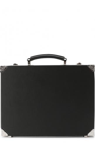 Кожаный портфель с металлической отделкой Brioni