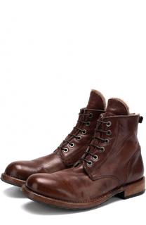 Кожаные ботинки с круглым мысом Moma
