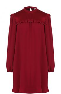 Мини-платье свободного кроя с оборками REDVALENTINO