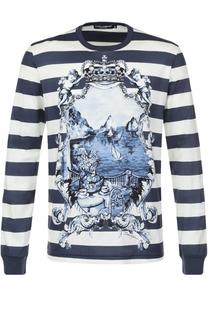 Хлопковый свитшот с принтом Dolce & Gabbana