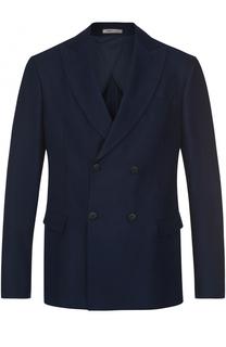 Двубортный пиджак прямого кроя Armani Collezioni