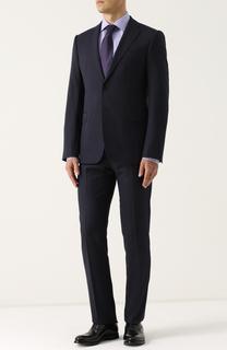 Шерстяной костюм с пиджаком на двух пуговицах Armani Collezioni