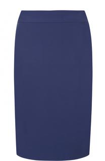 Юбка-карандаш с разрезом и широким поясом Armani Collezioni