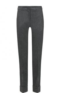 Укороченные брюки прямого кроя с отворотами Armani Collezioni