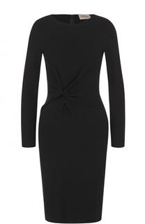 Платье-миди с длинным рукавом и драпировкой Armani Collezioni