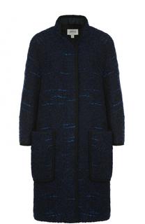 Пальто свободного кроя с накладными карманами Armani Collezioni
