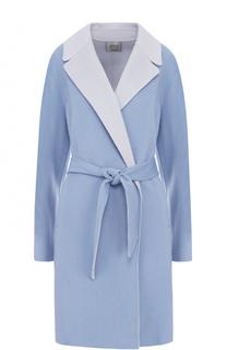 Шерстяное пальто с поясом Armani Collezioni