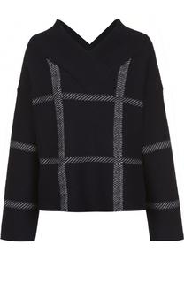 Пуловер свободного кроя с V-образным вырезом Armani Collezioni
