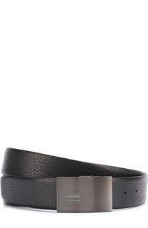 Кожаный ремень с металлической пряжкой Armani Collezioni