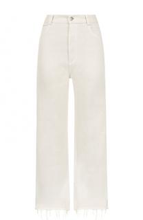 Укороченные расклешенные джинсы с потертостями Rachel Comey
