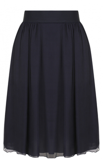 Шелковая юбка-миди с широким поясом Armani Collezioni