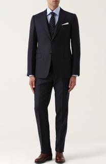 Приталенный шерстяной костюм-тройка Armani Collezioni