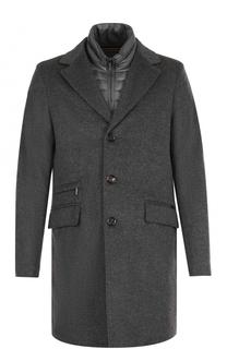 Шерстяное однобортное пальто с пуховой подстежкой Moorer