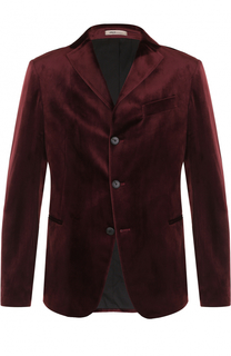 Бархатный однобортный пиджак Armani Collezioni