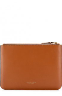 Кожаный клатч-конверт на молнии Ralph Lauren