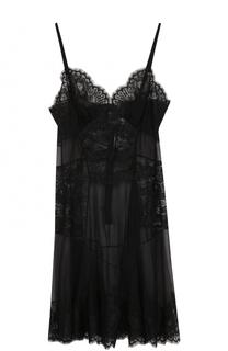 Шелковая кружевная сорочка Dolce & Gabbana