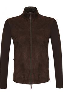 Замшевая куртка на молнии Armani Collezioni
