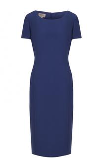 Приталенное платье-миди с коротким рукавом Armani Collezioni