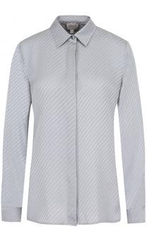 Шелковая блуза прямого кроя Armani Collezioni
