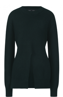 Вязаный свитер из смеси шерсти и шелка с кашемиром Proenza Schouler